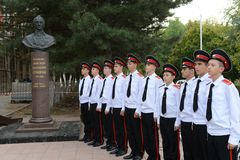 Cadets Novocherkassk Suvorov military school Stock Images