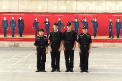 Cadets Novocherkassk Suvorov military school Royalty Free Stock Photos