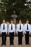 Cadets Novocherkassk Suvorov military school. NOVOCHERKASSK, RUSSIA - SEPTEMBER 12, 2014: Cadets Novocherkassk Suvorov military school of the Ministry of Stock Photo