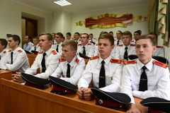 Cadets Novocherkassk Suvorov military school Stock Image