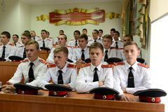 Cadets Novocherkassk Suvorov military school Royalty Free Stock Photo
