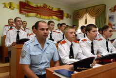 Cadets Novocherkassk Suvorov military school Royalty Free Stock Photography