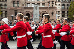 Cadets parade on Remebrance Day. Royalty Free Stock Images