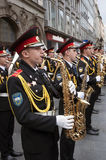 Cadets playing saxophone Stock Image