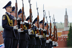 Cadets of Presidential Regiment Stock Image