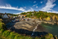 Cadgwith Cove, Cornwall. Located on the Lizard, a lovely fishing village Royalty Free Stock Photos
