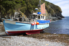 Cadgwith fishing boat Royalty Free Stock Photography