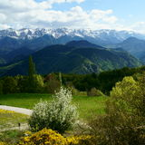 Cadi mountain from Travesseres (Pyrenees, Catalonia) Stock Images