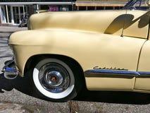 Cadillac, American car of the 1940s, Model 62 Coupe Yoga Mat, 1947.Rarity Hamburg, Germany. Cadillac, vanilla yellow. American car of the 1940s.  Model 62 Coupe Stock Image