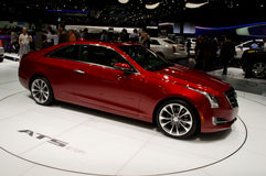 Cadillac-ATS Coupe Genève 2014 Royalty-vrije Stock Afbeelding