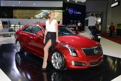 Cadillac ATS - rosyjski premiera. zdjęcie royalty free