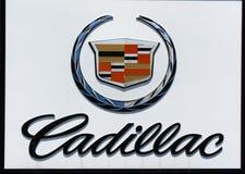 Cadillac-Automobil-Verkaufsstelle-Zeichen und Logo Lizenzfreies Stockfoto