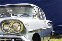 Cadillac azul clásico Foto de archivo libre de regalías