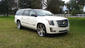 Cadillac 2015 biel Obrazy Stock