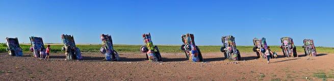 Cadillac-Boerderij in Amarillo, Texas stock foto's
