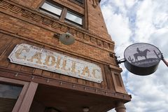 Cadillac Cantina w Fort Worth Teksas obraz royalty free