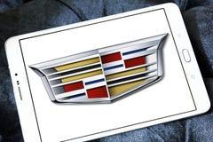 Cadillac car logo. Logo of cadillac car brand on samsung tablet royalty free stock photos