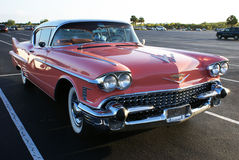 Cadillac cor-de-rosa em Florida Fotos de Stock