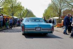Cadillac Coupe de Ville  drives on street Stock Photos