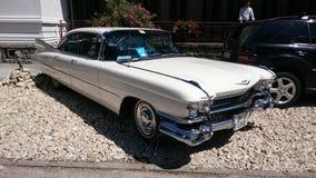 Cadillac Coupe de Ville - esposizione automatica della Romania retro in Sinaia Fotografia Stock Libera da Diritti