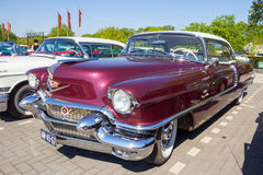 1956 Cadillac Coupe De Ville. ROSMALEN, THE NETHERLANDS - 1956 Cadillac Coupe De Ville on the parking lot of the ROck Around The Jukebox Event Royalty Free Stock Images