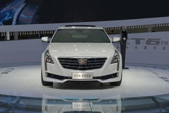 Cadillac CT6 PHEV hybrid saloon car Royalty Free Stock Photography