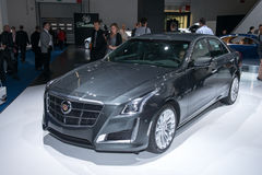 Cadillac CTS - première mondiale Photos stock