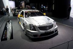 Cadillac CTS-V coupe race car. Side view of Cadillac CTS-V coupe race car Stock Images