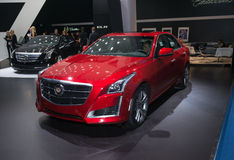 Cadillac CTS - world premiere Royalty Free Stock Photo