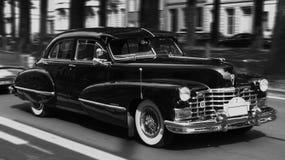 Cadillac degli anni '50 in bianco e nero Fotografia Stock