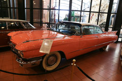 1960 Cadillac DeVille Hardtop Coupe. ISTANBUL, TURKEY - JULY 29, 2016: 1960 Cadillac DeVille Hardtop Coupe in Rahmi M. Koc Industrial Museum. Koc museum has one Stock Photos