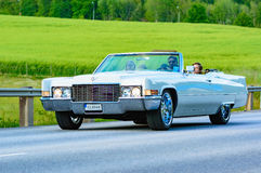 Cadillac deville white 1969 Stock Photography