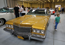 Cadillac displayed at 3rd edition of MOTO SHOW in Cracow. Poland. Exhibitors present  most interesting aspects of the automotive industry Stock Images