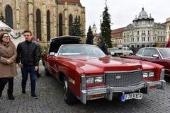 Cadillac Eldorado vintage red car Royalty Free Stock Photos