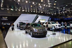 Cadillac Escalade stand at Moscow Motor Show Royalty Free Stock Images