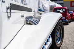 Cadillac Excalibur in der montjuic Geist Barcelona-Stromkreisautoshow stockbild