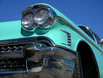 1958 Cadillac front lights Royalty Free Stock Images