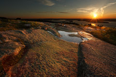 Cadillac góry wschód słońca Obraz Stock