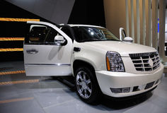 Cadillac hybrides Suv, Auto Stockfotografie