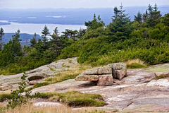 Cadillac Mountain on Mount Desert Island. Royalty Free Stock Photo