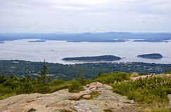 Cadillac Mountain on Mount Desert Island. Royalty Free Stock Image