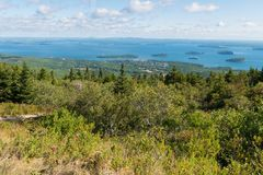 Cadillac Mountain overlook Royalty Free Stock Image