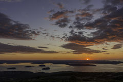 Cadillac Mountain sunrise Stock Image
