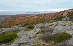 Cadillac Mountain sunset Royalty Free Stock Images