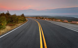 Cadillac Mountains Road Stock Images