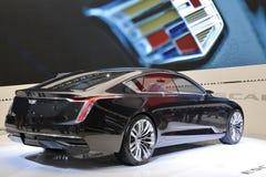 Cadillac na exposição na feira automóvel 2017 internacional norte-americana Fotografia de Stock