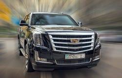 Cadillac nero Immagini Stock