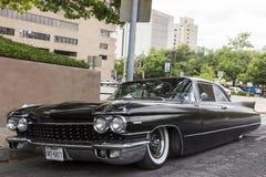 Cadillac nero Eldorado Siviglia Immagine Stock
