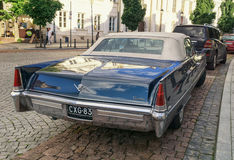 Cadillac, old, classic car, oldtimer, rear view Royalty Free Stock Images