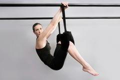 Cadillac pilates sport woman gym Stock Image
